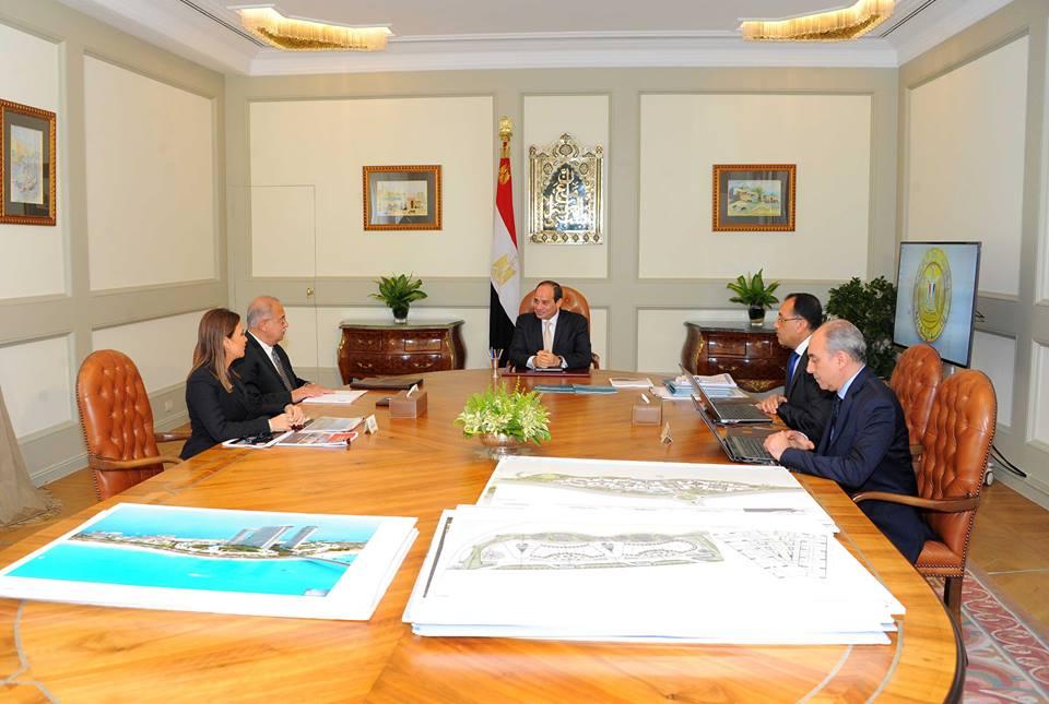 السيسي يُتابع التطورات الخاصة بالعاصمة الإدارية والمدن الجديدة3