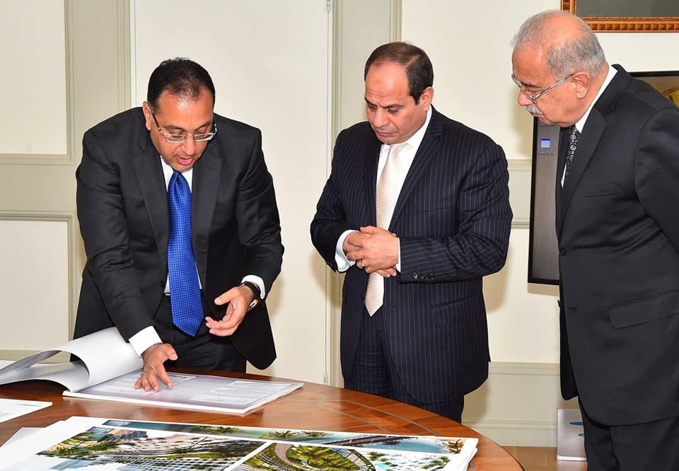 السيسي يُتابع التطورات الخاصة بالعاصمة الإدارية والمدن الجديدة1