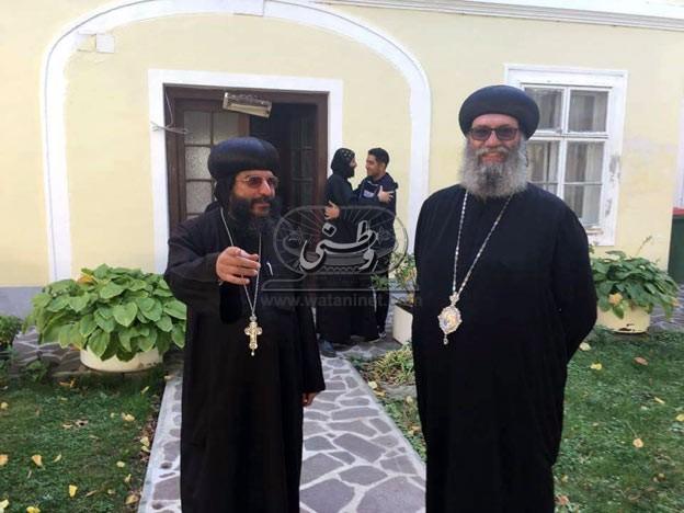 الأنبا سوريال يلتقي شباب النمسا بدير القديس أنطونيوس