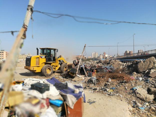 محافظ الإسكندرية: حملة إزالة اشغالات مكبرة بحي شرق و المنتزة اول استهدفت شارع جميلة بوحريد و الجلاء والعوايد.