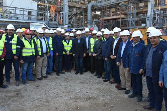 """""""الملا"""" خلال الجولة التفقدية """"لانربك"""": الاهتمام بكفاءة وتطوير مشروعات التكرير والبتروكيماويات"""