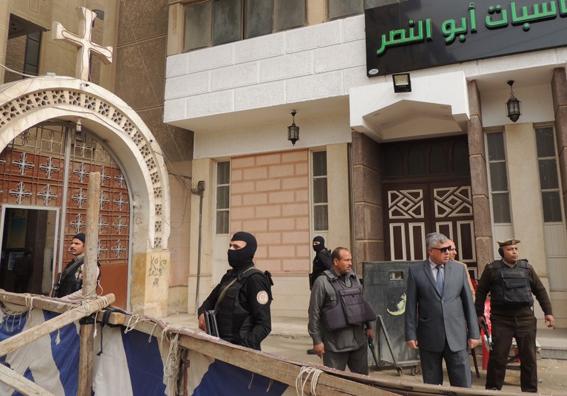 جولة تفقدية لمدير أمن المنوفية على كنائس المحافظة