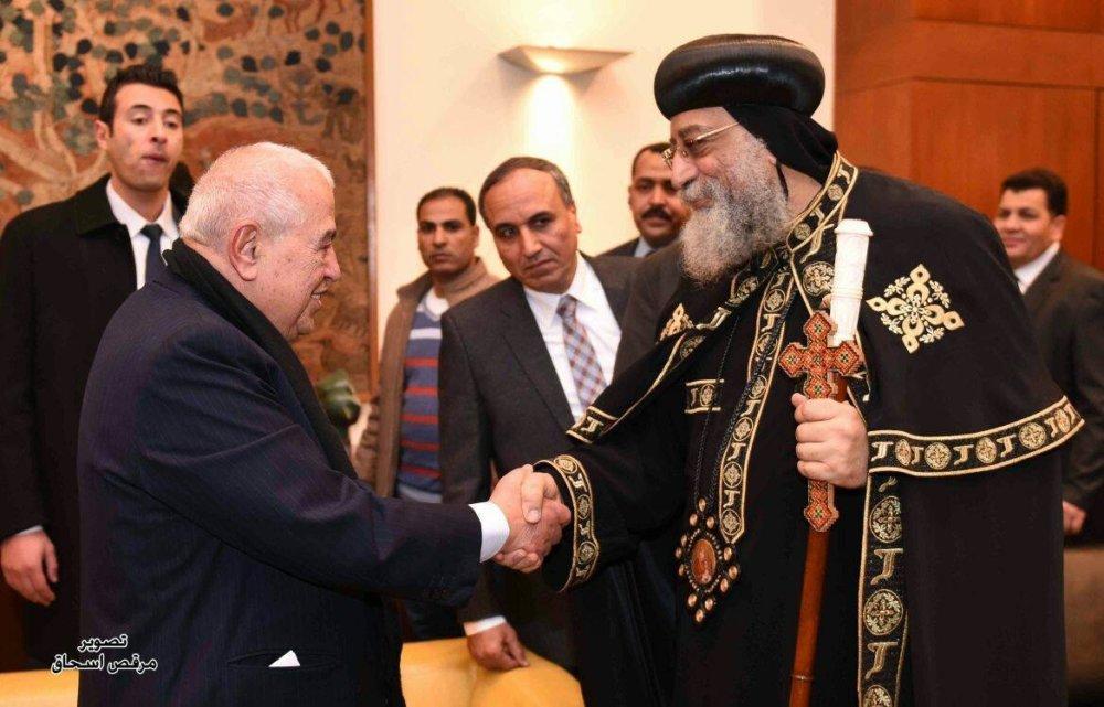 """زيارة للتاريخ ..قداسة البابا يفتتح معرض الأهرام """"تاريخ الوطن"""""""