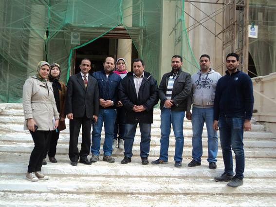 مساعد وزير الآثار يتفقد مشروع ترميم المعبد اليهودي بالإسكندرية