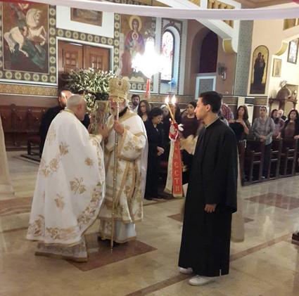 المتروبوليت نقولا مطران طنطا يترأس القداس الإلهي بكنيسة رؤساء الملائكة  للروم الأرثوذكس بالظاهر