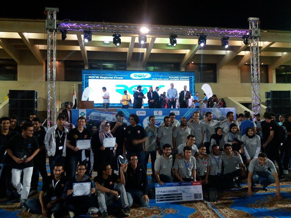 ختام مسابقة الغواصات المصرية والعربية بالأكاديمية العربية للعلوم والتكنولوجيا بالإسكندرية