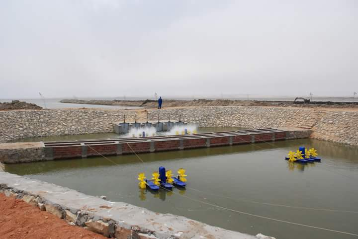 وزير الزراعة يفتتح المرحلة الأولي لتطوير بحيرة قارون