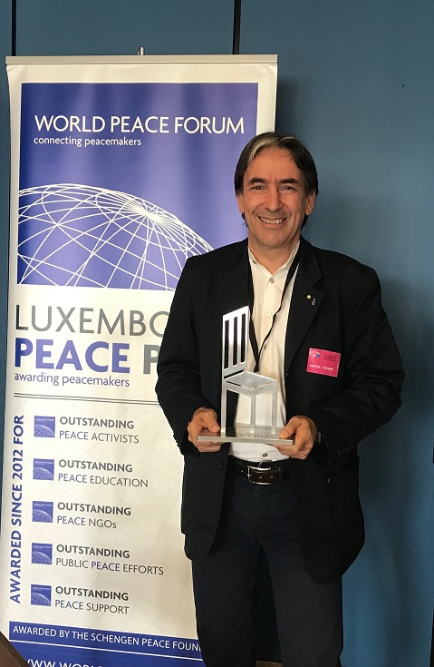 """جامعة هليوبوليس و """"سيكم"""" تتسلم جائزة لوكسمبورج للسلام البيئى"""
