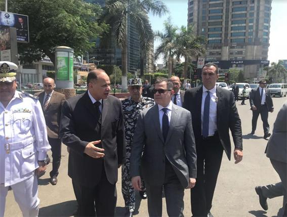 وزير الداخلية يتفقد ميدان مصطفى محمود بالمهندسين