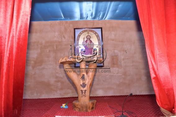 سفير الفاتيكان ومحافظ أسيوط يشهدا تدشين مزار بمسار رحلة العائلة المقدسة بقرية درنكة