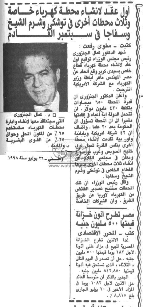 26 – 07 – 1987: مصر تتطالب وتتمسك بدير السلطان بالقدس