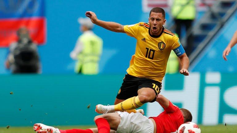 بلجيكا تتقدم في الشوط الأول على إنجلترا1/0