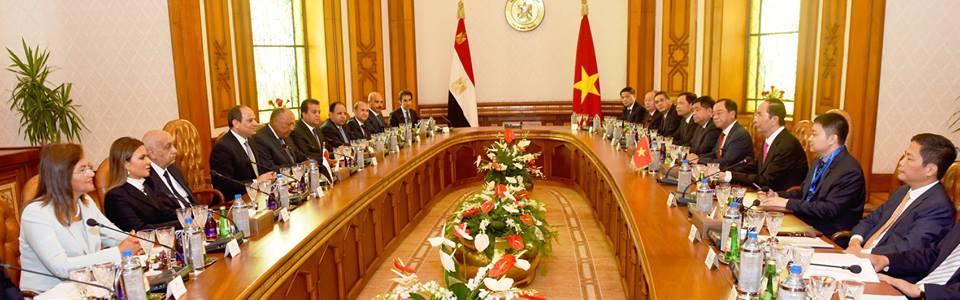 """نص كلمة الرئيس """"السيسي"""" بالمؤتمر الصحفي المشترك مع الرئيس الفيتنامي"""