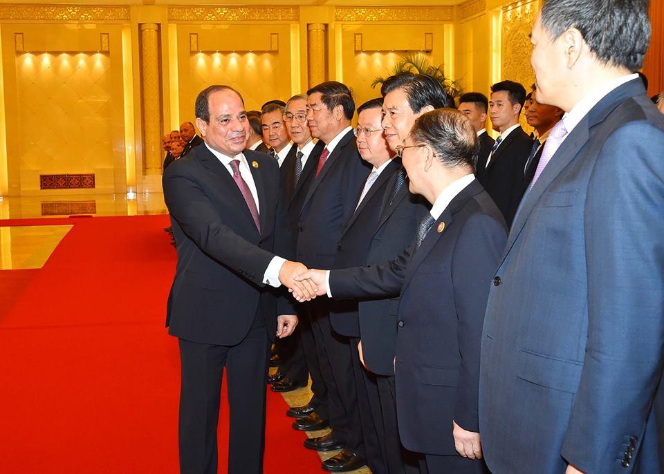 """الرئيس """"السيسى"""" يصل العاصمة الصينية بيكين"""