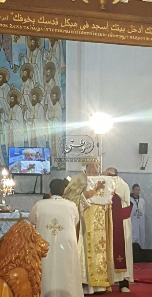 قداسة البابا يرأس القداس الإلهي بكاتدرائية الأنبا بيشوي