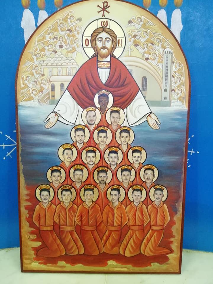 """في تذكار استشهدهم على اسم المسيح.. رسامون يجسدون ابطال الايمان بـ""""ليبيا """""""