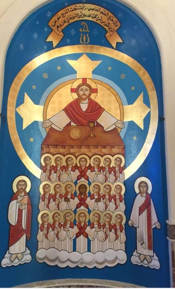 """في تذكار استشهادهم على اسم المسيح.. رسامون يجسدون ابطال الايمان بـ""""ليبيا """""""