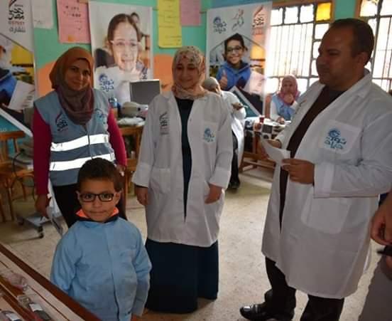 """انطلاق مبادرة """"نور حياة"""" لمكافحة مسببات ضعف البصر بمدرسة بنايوس الابتدائية"""