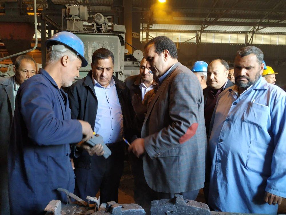 رئيس هيئة السكة الحديد يفاجئ ورش ومستشفى الهيئة بأبو زعبل