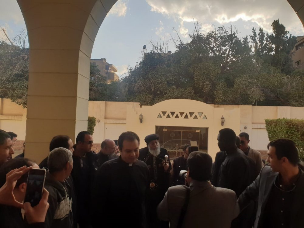 بالصور...وصول البابا تواضروس لحضور احتفال مجلس كنائس مصر