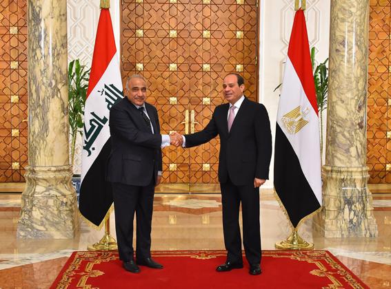 """""""السيسي"""" يثمن جهود الجيش العراقي في طرد التنظيمات الإرهابية من العراق"""