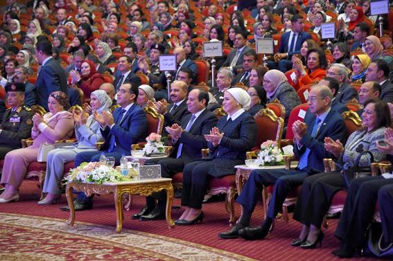 """""""وطني """" تنشر نص كلمة """"السيسي """" بـ احتفالية تكريم المرأة المصرية"""