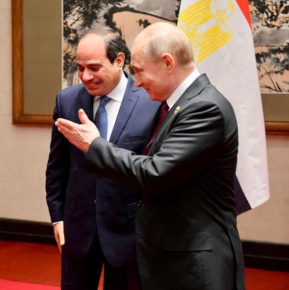 """بـ """"بكين """"الرئيس """"السيسي"""" والرئيس الروسي يستعرضا القضايا ذات الإهتمام المشترك"""