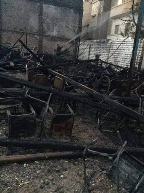 حريق بمطرانية مارجرجس بمطاي ولا يوجد خسائر بشرية