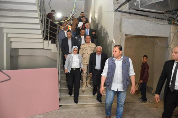"""بالصور: """"محافظ بورسعيد """" تكثيف الجهود لإنهاء الأعمال الإنشائية بمستشفى بورفؤاد بالتوقيتات المحددة"""
