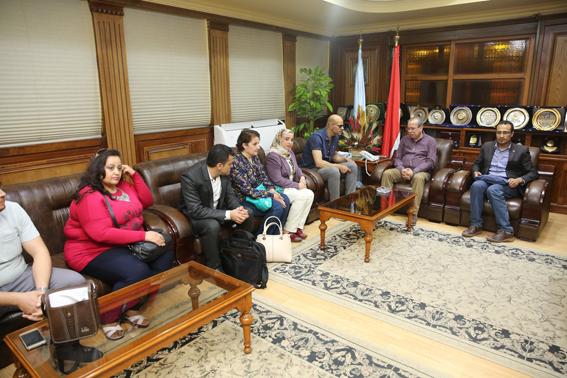 ممثل وزارة السياحة ومحافظ كفرالشيخ يناقشان توثيق مسار العائلة المقدسة بسخا