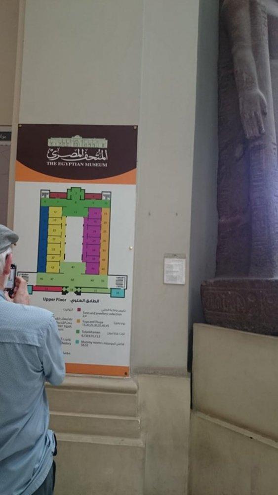 تنفيذ أعمال المرحلة الثانية من وضع اللوحات الإرشادية بالمتحف المصرى