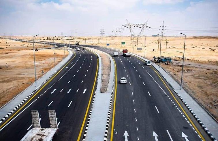 الانتهاء من تطوير طريق الروبيكي من مدينة بدر إلى طريق جنيفة بالعاشر من رمضان