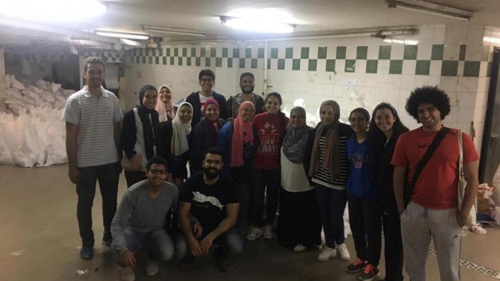 """""""الجامعة الأمريكية"""" بالقاهرة تواصل جهودها لمساعدة غير القادرين"""