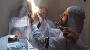 أنبا صليب  يكشف عن ظاهرة تعامد الشمس على مذبح كنيسة مارجرجس بميت غمر