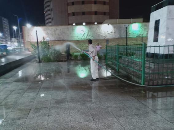 """""""أسيوط ': حملات رفع الاشغالات والحواجز  مستمرة"""