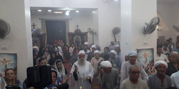 تدشين معمودية خلال أحتفالات اليوم بدنفيق نقادة