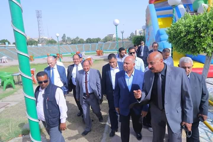وزير النقل يتفقد استاد السكة الحديد أحد استادات التدريب لبطولة الأمم الأفريقية 2019