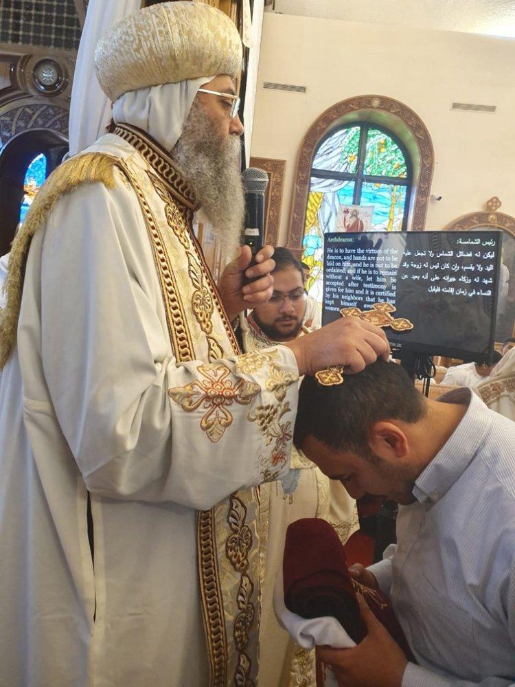 ترقية وسيامة شمامسة بيد مطران القدس في نيوجيرسى
