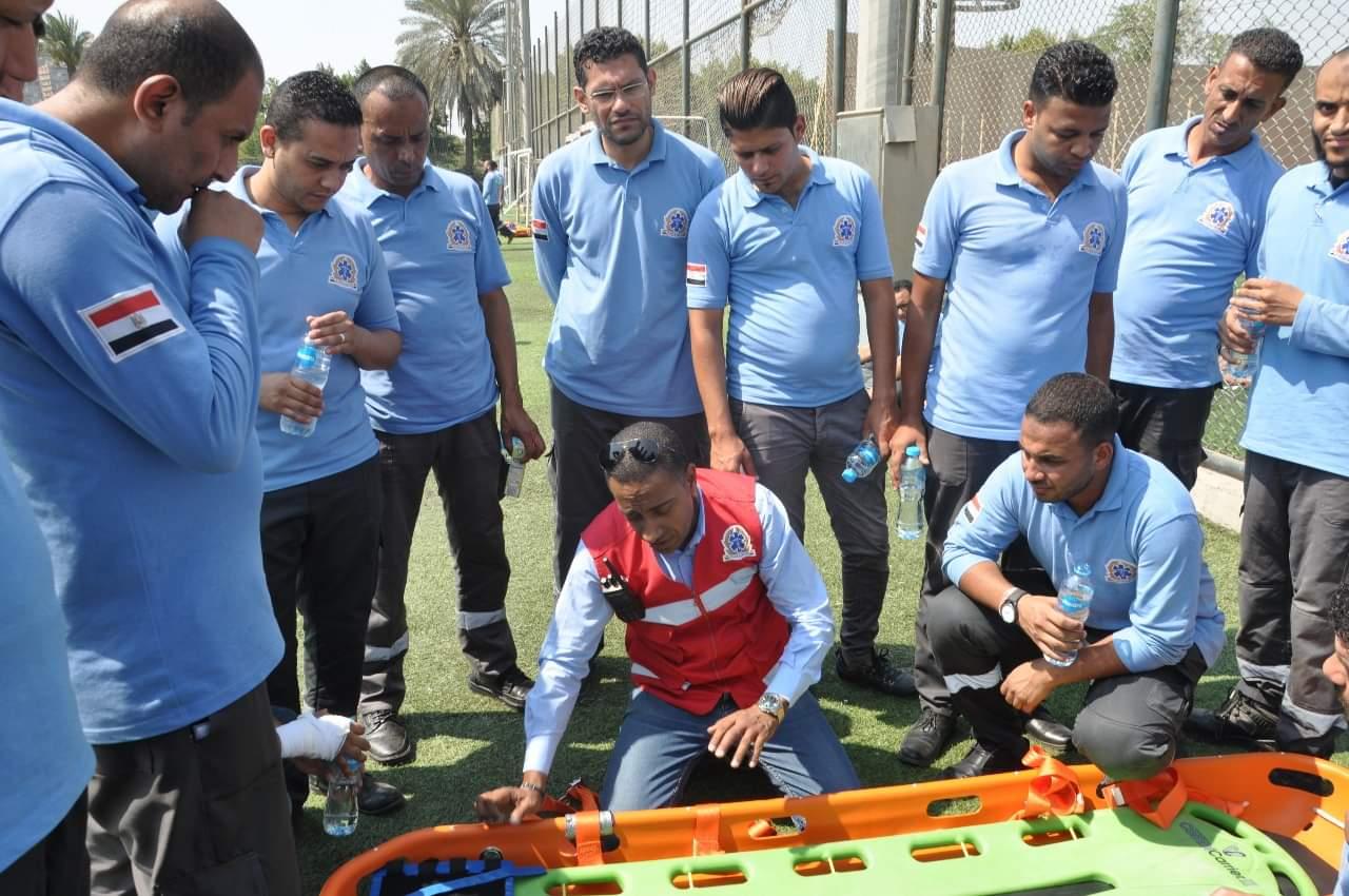 """الصحة"""": تدريب المسعفين على ناقلات إسعافية متطورة استعدادا لبطولة"""" كأس الأمم الإفريقية"""
