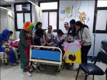 كنيسة القديس نيقولاوس تزور مستشفى الأطفال التخصصي ببنها