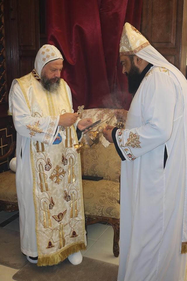 الأنبا يوسف يترأس القداس الإلهى لعيد الأنبا بيشوى بحضور كهنة ناشفيل الأمريكية
