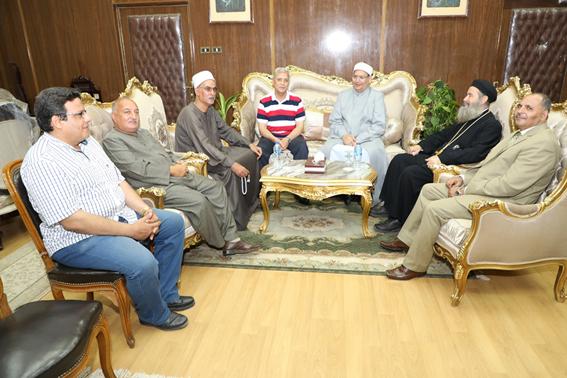 وفد من بيت العائلة المصرية يزور ديوان محافظة  المنوفية