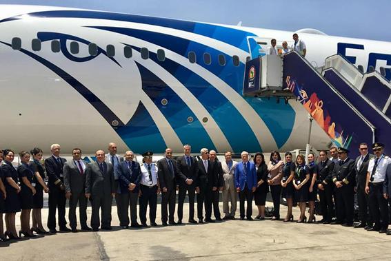 """مصر للطيران تستقبل الطائرة الخامسة من الـ""""دريملاينر"""""""