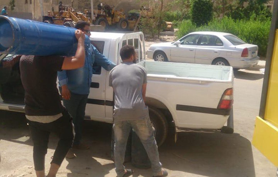 """جهاز مدينة القاهرة الجديدة يشُن حملة على """"التوك توك"""""""