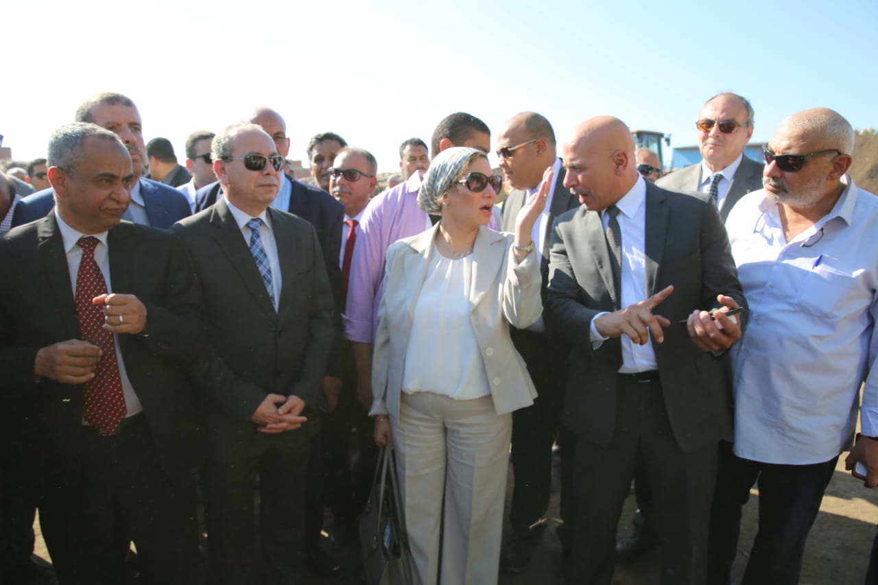 وزيرة البيئة تشهد افتتاح تطوير مصنع بيلا لتدوير المخلفات الصلبة بكفر الشيخ