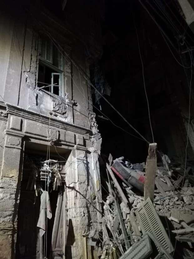 انهيار عقارين بحي الجمرك بالإسكندرية دون حدوث إصابات