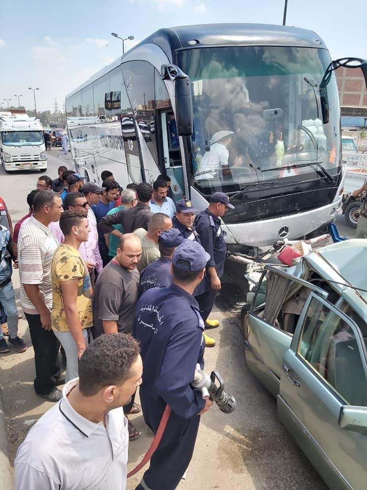 3 إصابات في حادث تصادم أوتوبيس فريق المحلة بدمنهور