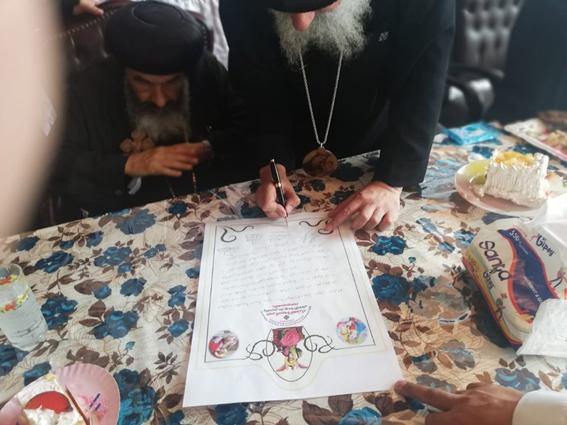 خمس رهبان جُدد لدير العذراء ويوحنا الحبيب بطريق الإسماعيلية