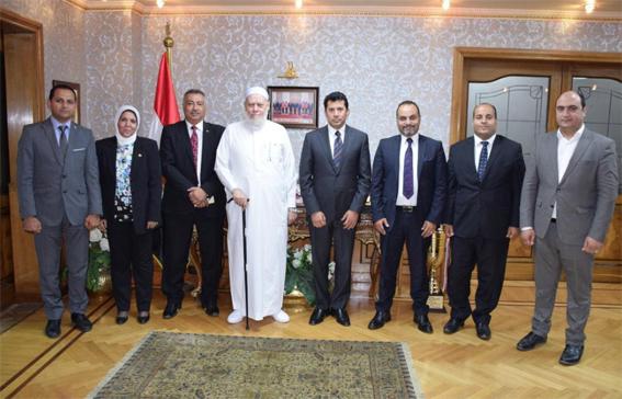 وزير الشباب والرياضة يلتقى  مفتى الديار المصرية الأسبق
