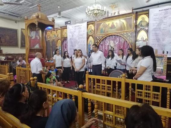 الأنبا بيجول يُشارك في نهضة العذراء بكنيسة رابطة القدس